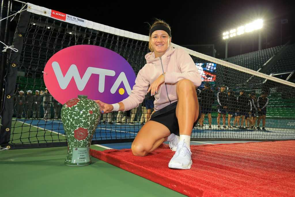PLAYER Karolina Muchova on court KO19 Trophy
